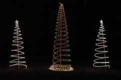 choinki świąteczne lampki Zdjęcia Royalty Free