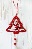 Choinki dekoracja z Santa Fotografia Royalty Free
