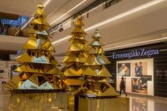 Choinki JK centrum handlowe Sao Paulo Zdjęcia Royalty Free