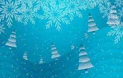 Choinki, lód i śnieg, royalty ilustracja