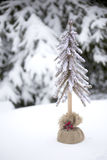Choinki w śniegu Fotografia Royalty Free