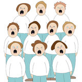 Choir. Illustration of people singing in choir stock illustration