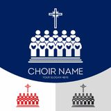 Choir Christian Church. Worship God. Music Ministry.  stock illustration