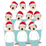 Choir Christmas. Illustration of people singing in the choir Royalty Free Stock Images