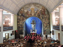 Choir concert in church, Lithuania Royalty Free Stock Photo