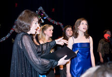 Choir Conductor leading Ave Maria Stock Photo