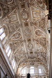 Choir Dome Mosque of Cordoba. The vault with lunettes Choir announces the eve of Baroque art stock photos