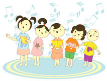 Choir Kids Royalty Free Stock Photo