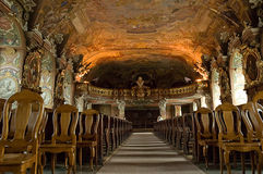 Choir loft of Aula Leopoldina at Wroclaw University. Poland. Stock Photography