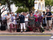 Choir on Market in Fuengirola on the Costa Del Sol Spain Stock Image
