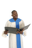 Choir Member Singing 1 Royalty Free Stock Photography
