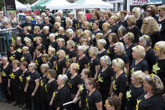 Choir members singing Winchester England UK Royalty Free Stock Photography