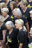 Choir members singing Winchester England UK Stock Photo