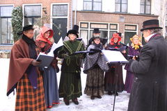 Choir in middle aged clothes royalty free stock images