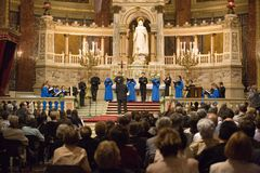 Choir of Notre Dame de Paris perform in Budapest Stock Photography