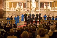 Choir of Notre Dame de Paris perform in Budapest Stock Images