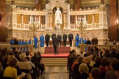 Choir of Notre Dame de Paris perform in Budapest Royalty Free Stock Images