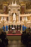 Choir of Notre Dame de Paris perform in Budapest Stock Image
