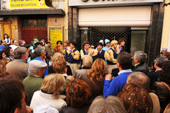 A choir performance of the street, Carnival of Cadiz, Andalusia, Spaina Stock Photos