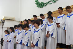 Choir pray Royalty Free Stock Photography
