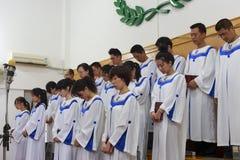 Choir pray. In the church, longhai city, china Royalty Free Stock Photography