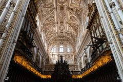 Choir and Renaissance Cathedral nave, Cordoba Royalty Free Stock Photo