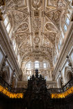 Choir and Renaissance Cathedral nave, Cordoba Stock Photo