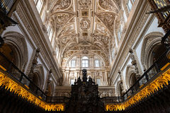 Choir and Renaissance Cathedral nave, Cordoba Royalty Free Stock Image