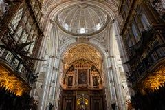 Choir and Renaissance Cathedral nave, Cordoba Royalty Free Stock Photo