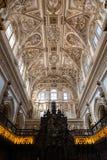 Choir and Renaissance Cathedral nave, Cordoba Stock Photo