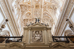Choir and Renaissance Cathedral nave, Cordoba Royalty Free Stock Image