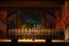 Choir of the Russian army. Performance under the baton of choral singers and soloists  of the military song and dance ensemble of the North-Western military Royalty Free Stock Images