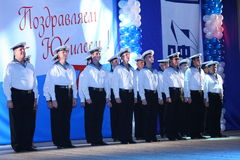 Choir of russian sailors Stock Photos