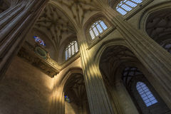 The Choir in Santa Maria Cathedal of Astorga. Spain royalty free stock images