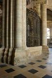 Choir-screen between massive pillars Royalty Free Stock Photo