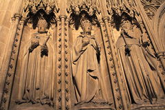 Choir screen sculptures Canterbury Cathedral UK Royalty Free Stock Image