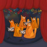 A choir of Singing foxes royalty free stock images