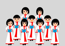 Choir singing. A group of children in choir Stock Image