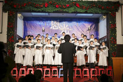 The choir singing Royalty Free Stock Photography