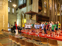 The choir in st.jack cathedral,brisbane,australia Royalty Free Stock Photography