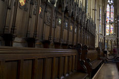 Choir stalls Royalty Free Stock Photography