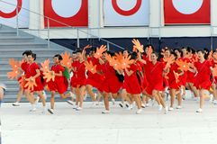 Choir students performing during NDP 2009 Royalty Free Stock Photo