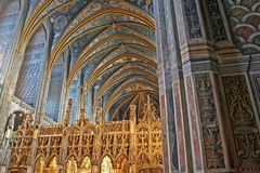 Choir of UNESCO Heritage Site Albi Cathedral Stock Photo