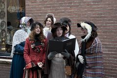 Choir in the victorian age royalty free stock photos