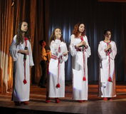 Choir of young girls Royalty Free Stock Images