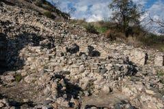 Choirokoitia Unesco-plats i Cypern Royaltyfria Bilder