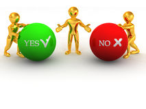 Choise YES or NO Stock Photo