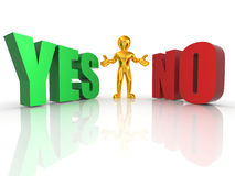Choise YES or NO. 3d Stock Photo
