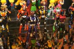 Choisi s'est concentré sur le nombre d'actions de caractère fictif de la série populaire japonaise KAMEN RIDER photo stock