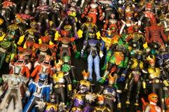 Choisi s'est concentré sur le nombre d'actions de caractère fictif de la série populaire japonaise KAMEN RIDER image stock